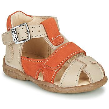Sko Dreng Sandaler GBB SEROLO Beige / Orange