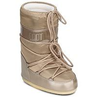 Sko Dame Vinterstøvler Moon Boot MOON BOOT GLANCE Platin