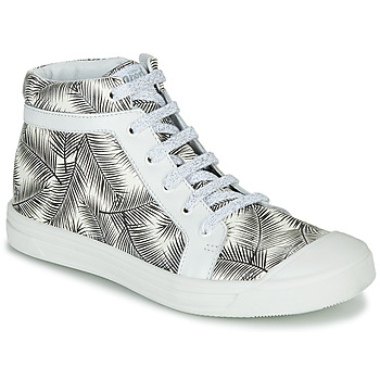 Sko Pige Høje sneakers GBB NAVETTE Sort / Hvid
