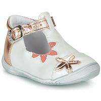 Sko Pige Ballerinaer GBB ANAXI Hvid / Pink / Guld