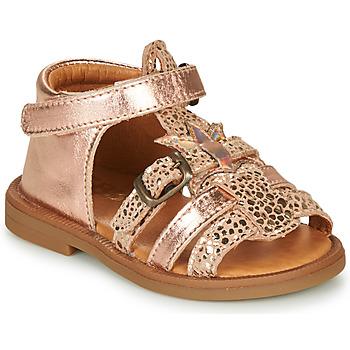 Sko Pige Sandaler GBB CARETTE Pink / Guld