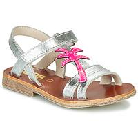 Sko Pige Sandaler GBB SAPELA Sølv / Pink