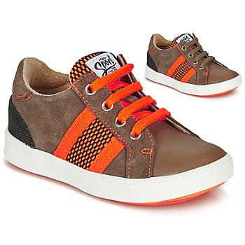 Sko Dreng Lave sneakers GBB ANTENO Brun / Orange