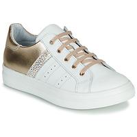 Sko Pige Lave sneakers GBB DANINA Hvid / Guld