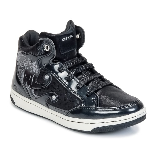 Sko Pige Høje sneakers Geox CREAMY A Sort