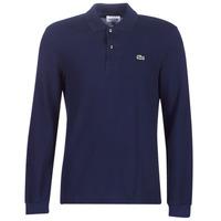 textil Herre Polo-t-shirts m. lange ærmer Lacoste L1312 Marineblå
