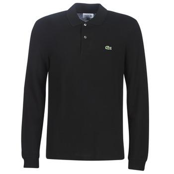 textil Herre Polo-t-shirts m. lange ærmer Lacoste L1312 Sort