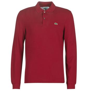textil Herre Polo-t-shirts m. lange ærmer Lacoste L1312 Bordeaux