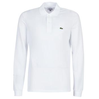 textil Herre Polo-t-shirts m. lange ærmer Lacoste L1312 Hvid