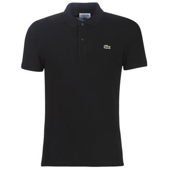 textil Herre Polo-t-shirts m. korte ærmer Lacoste PH4012 SLIM Sort