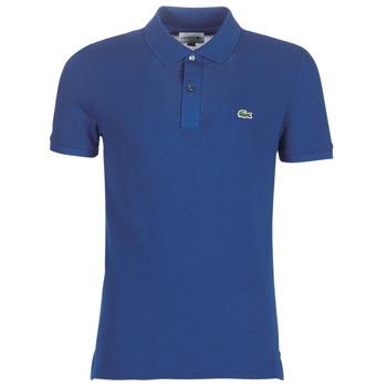 textil Herre Polo-t-shirts m. korte ærmer Lacoste PH4012 SLIM Marineblå