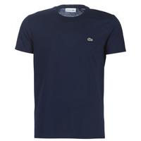 textil Herre T-shirts m. korte ærmer Lacoste TH6709 Marineblå