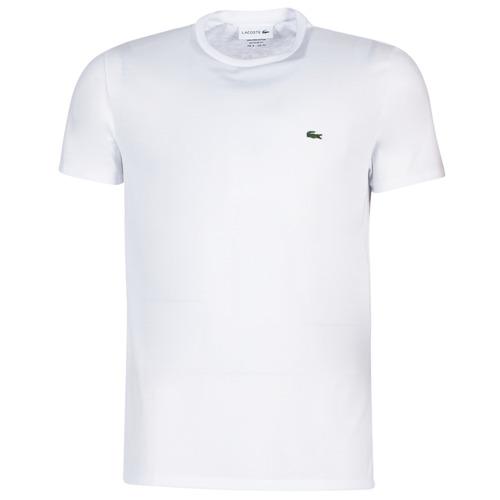 textil Herre T-shirts m. korte ærmer Lacoste TH6709 Hvid