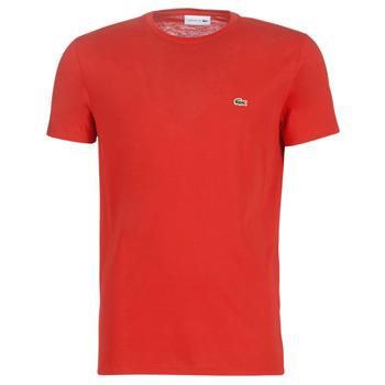 textil Herre T-shirts m. korte ærmer Lacoste TH6709 Rød