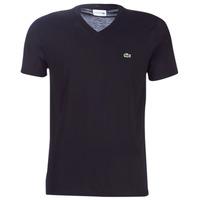 textil Herre T-shirts m. korte ærmer Lacoste TH6710 Sort