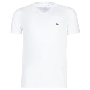textil Herre T-shirts m. korte ærmer Lacoste TH6710 Hvid