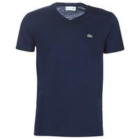 textil Herre T-shirts m. korte ærmer Lacoste TH6710 Marineblå