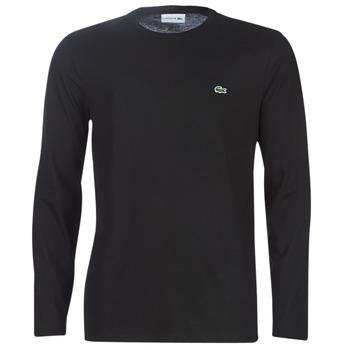 textil Herre Langærmede T-shirts Lacoste TH6712 Sort