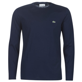 textil Herre Langærmede T-shirts Lacoste TH6712 Marineblå