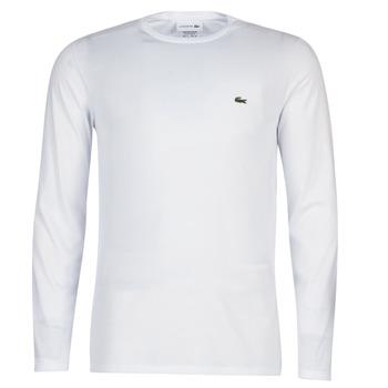 textil Herre Langærmede T-shirts Lacoste TH6712 Hvid