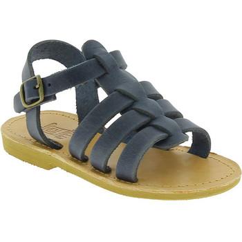 Sko Dreng Sandaler Attica Sandals PERSEPHONE NUBUCK BLUE blu