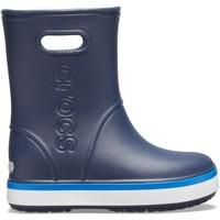 Sko Børn Gummistøvler Crocs Crocs™ Crocband Rain Boot Kid's Navy/Bright Cobalt