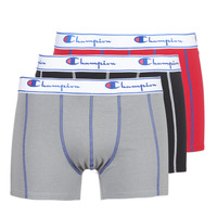 Undertøj Herre Trunks Champion BOXER UNIS PACK DE 3 Rød / Grå / Sort