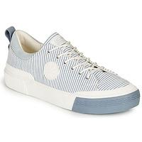 Sko Dame Lave sneakers Palladium STUDIO 02 TXT Hvid / Blå
