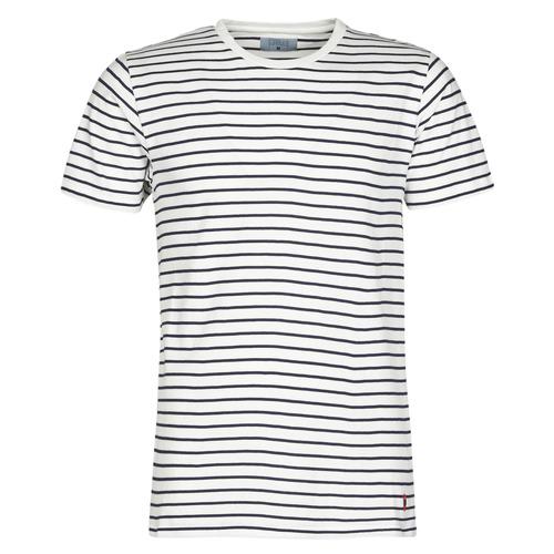 textil Herre T-shirts m. korte ærmer Yurban KINO Marineblå / Hvid