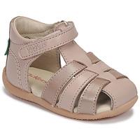 Sko Pige Sandaler Kickers BIGFLO-2 Pink / Metal