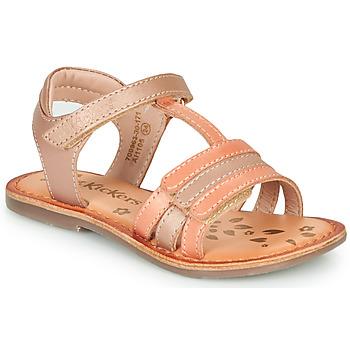 Sko Pige Sandaler Kickers DIAMANTO Pink / Orange