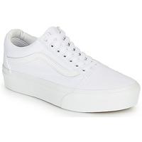 Sko Dame Lave sneakers Vans OLD SKOOL PLATFORM Hvid