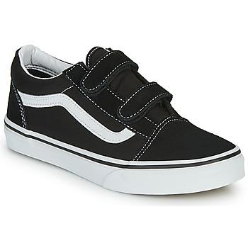 Sko Børn Lave sneakers Vans Old Skool V Sort / Hvid