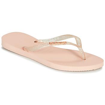 Sko Dame Klipklapper  Havaianas SLIM LOGO METALLIC Pink