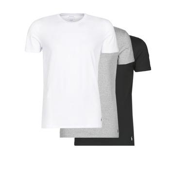 textil Herre T-shirts m. korte ærmer Polo Ralph Lauren WHITE/BLACK/ANDOVER HTHR pack de