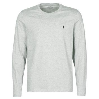 textil Herre T-shirts m. korte ærmer Polo Ralph Lauren L/S CREW-CREW-SLEEP TOP Grå