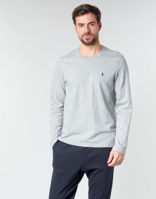 textil Herre Langærmede T-shirts Polo Ralph Lauren L/S CREW-CREW-SLEEP TOP Grå