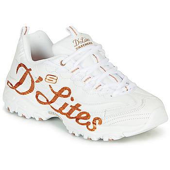 Sko Dame Lave sneakers Skechers D'LITES Hvid