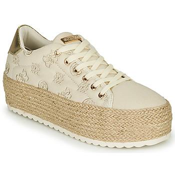 Sko Dame Lave sneakers Guess MARILYN Beige