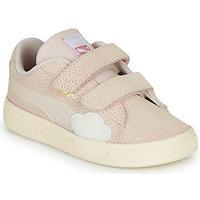 Sko Pige Lave sneakers Puma SUEDE Pink