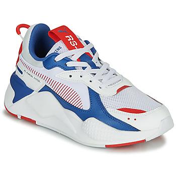 Sko Børn Lave sneakers Puma RS-X Hvid / Blå / Rød