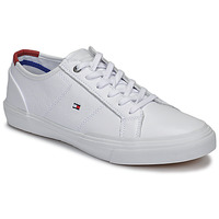Sko Herre Lave sneakers Tommy Hilfiger CORE CORPORATE FLAG SNEAKER Hvid