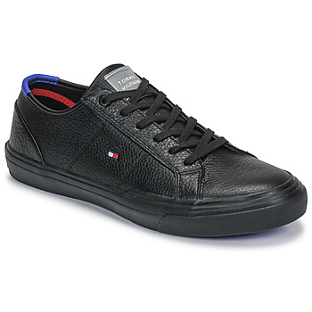 Sko Herre Lave sneakers Tommy Hilfiger CORE CORPORATE FLAG SNEAKER Sort