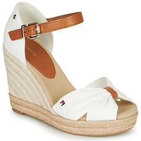 Sko Dame Sandaler Tommy Hilfiger BASIC OPENED TOE HIGH WEDGE Hvid