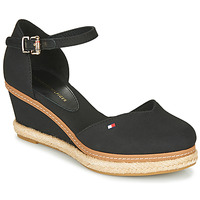 Sko Dame Sandaler Tommy Hilfiger BASIC CLOSED TOE MID WEDGE Sort