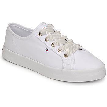 Sko Dame Lave sneakers Tommy Hilfiger ESSENTIAL NAUTICAL SNEAKER Hvid