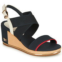 Sko Dame Sandaler Tommy Hilfiger TH HARDWARE BASIC MID WEDGE Blå