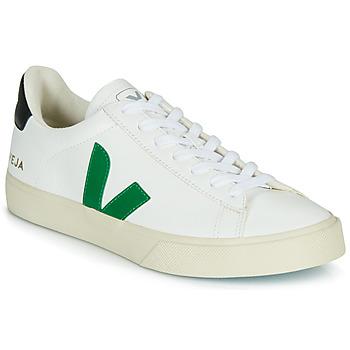 Sko Lave sneakers Veja CAMPO Hvid / Grøn / Sort
