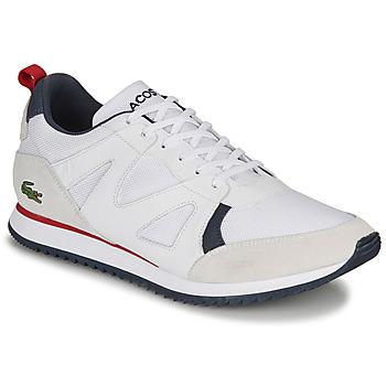 Sko Herre Lave sneakers Lacoste AESTHET 120 2 SMA Hvid / Blå / Rød