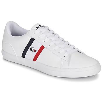 Sko Herre Lave sneakers Lacoste LEROND TRI1 CMA Hvid / Blå / Rød